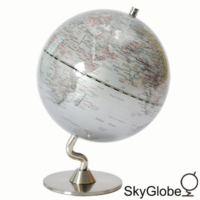 5吋銀色時尚地球儀(英文版)