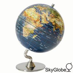 5吋衛星原貌金屬底座地球儀(中文版)