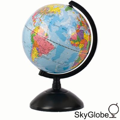 8吋塑膠底座地球儀