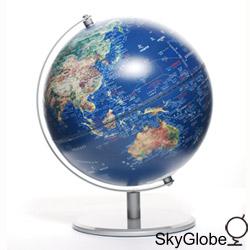 10吋衛星金屬手臂地球儀(中英文版) thumb