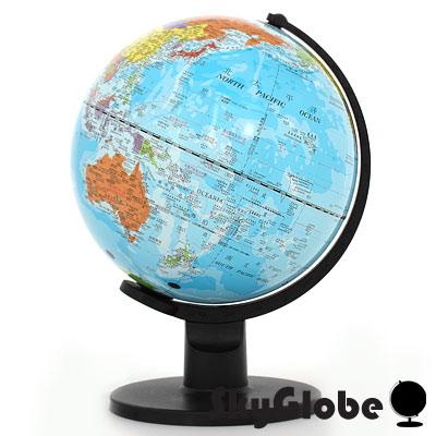 10吋行政藍色海洋塑膠地球儀(中英文對照)(附燈)