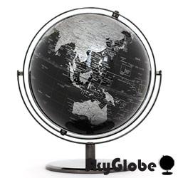 10吋精緻黑色360度旋轉地球儀(英文版) thumb