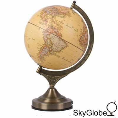 10吋仿古立體圖形/ 金屬底座/ 觸控三段式地球儀