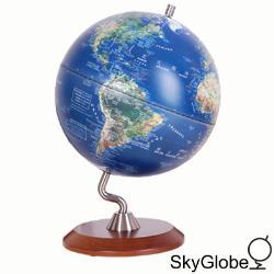 10吋衛星原貌木質底座立體地球儀 thumb