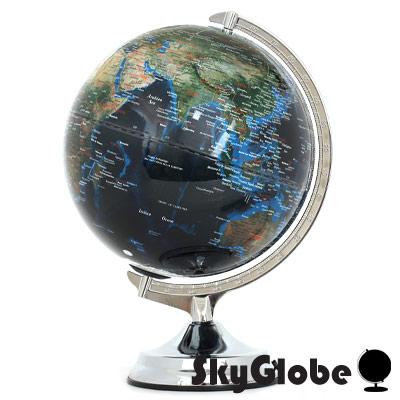 12吋地形海溝人口分佈地球儀(英文版)(附燈)