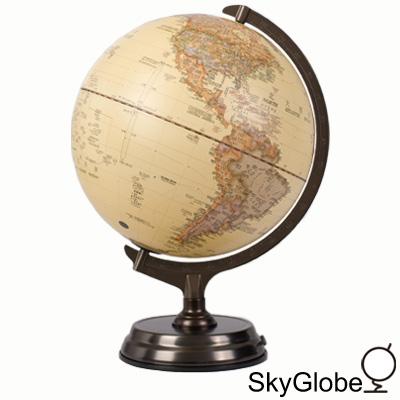 12吋仿古金屬底座立體觸控式地球儀