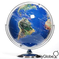 17吋超大衛星立體金屬地球儀(英文)
