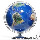 17吋超大衛星立體金屬地球儀(英文) 13